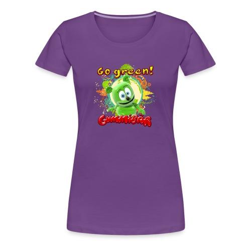 Gummibär (The Gummy Bear) Go Green Earth Day Women's T-Shirt - Women's Premium T-Shirt