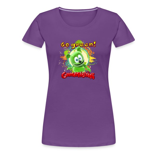 Gummibär (The Gummy Bear) Go Green Earth Day Women's T-Shirt