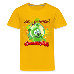 Gummibär (The Gummy Bear) Go Green Earth Day Kid's T-Shirt - Kids' Premium T-Shirt
