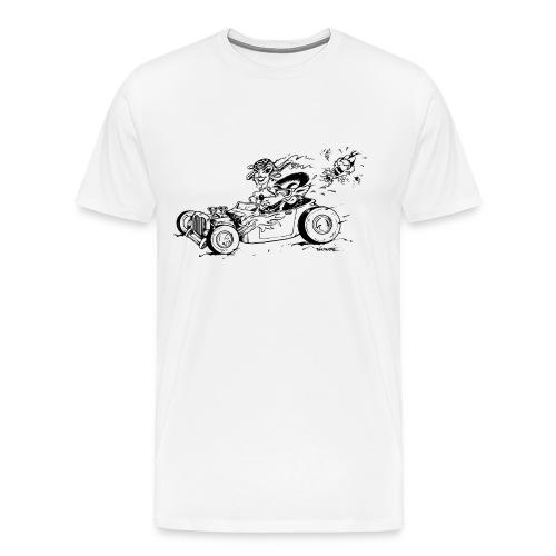 A Hot Rod a Wolf and a Fox - Men's Premium T-Shirt