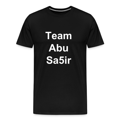 Men's Team Abu Sa5ir White Letters - Men's Premium T-Shirt