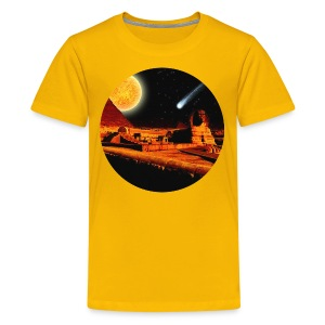 Egyptian Sphinx, Pyramid & Comet - Kids' Premium T-Shirt
