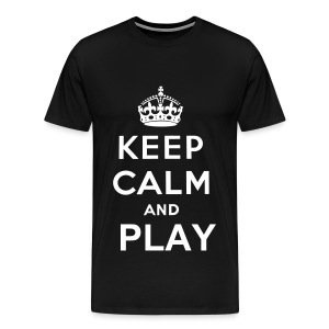 Keep Calm and Play - Men's Premium T-Shirt