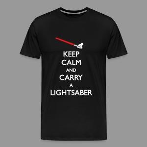 Keep Calm Red Lightsaber 1 - Men's Premium T-Shirt