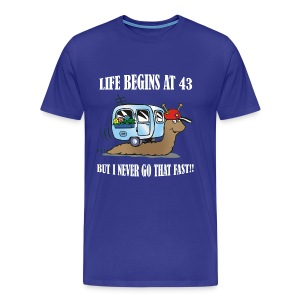 Life begins at 43 - Men's Premium T-Shirt