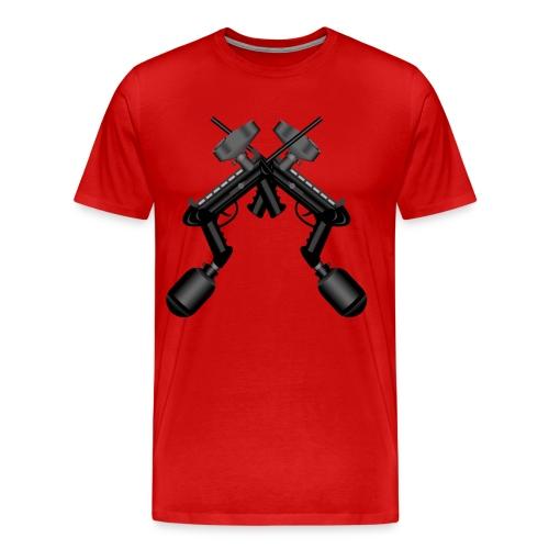 Paintball. Gun Cross. - Men's Premium T-Shirt