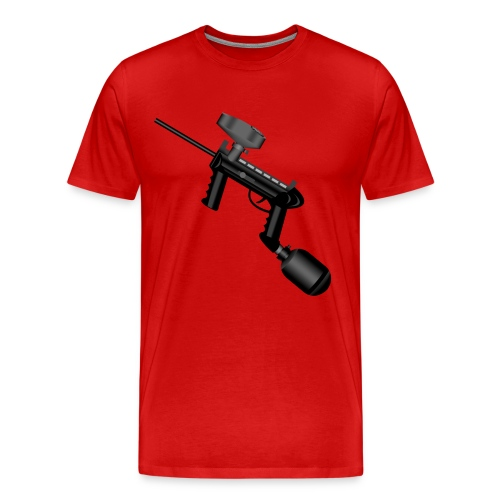 Paintball. Left Hand. - Men's Premium T-Shirt