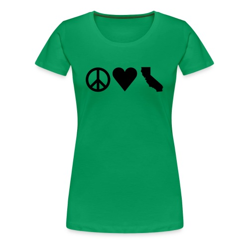 Peace Love California T-Shirt - Women's Premium T-Shirt