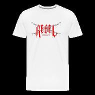T-Shirts ~ Men's Premium T-Shirt ~ 3X and 4X Rebel Defiant T-Shirt