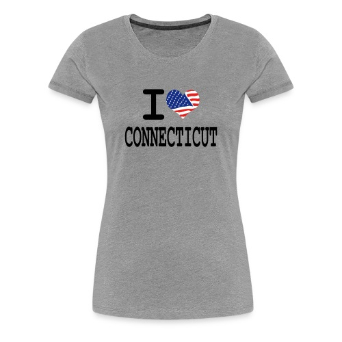 Women's I Love Connecticut T-Shirt - Women's Premium T-Shirt