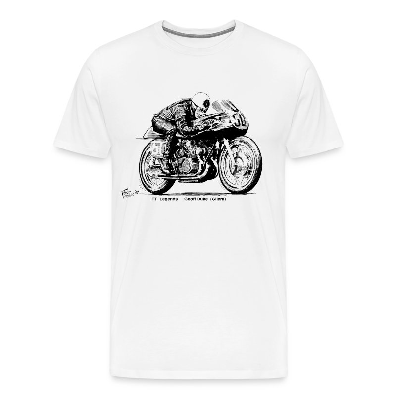 TT Legends Geoff Duke - Men's Premium T-Shirt