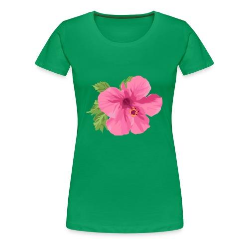 Pink Tropical Flower - Women's Premium T-Shirt