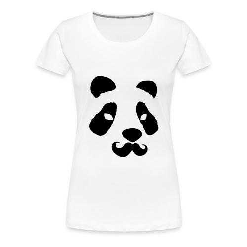 Panda 'Stache - Women's Premium T-Shirt