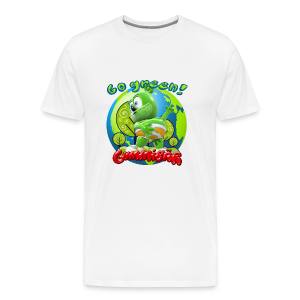 Gummibär Go Green Earth Day Men's T-Shirt - Men's Premium T-Shirt