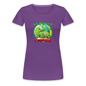 Gummibär (The Gummy Bear) Go Green Earth Day Women's T-Shirt - Women's Premium T-Shirt
