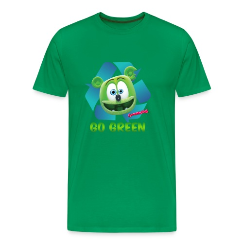 Gummibär (The Gummy Bear) Recycle Earth Day Men's T-Shirt - Men's Premium T-Shirt