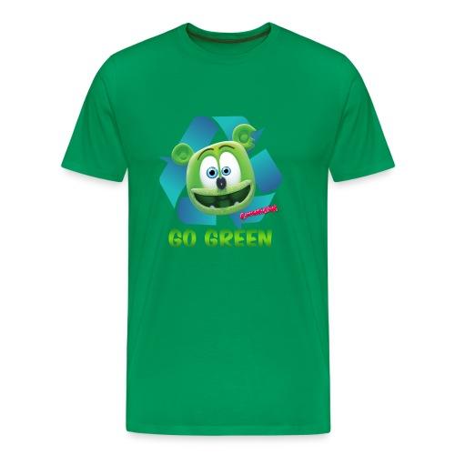 Gummibär (The Gummy Bear) Recycle Earth Day Men's T-Shirt - Men's Premium T-Shirt
