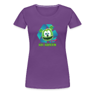 Women's T-Shirts ~ Women's Premium T-Shirt ~ Gummibär Recycle Earth Day Women's T-Shirt