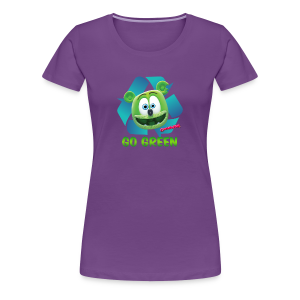 Gummibär Recycle Earth Day Women's T-Shirt - Women's Premium T-Shirt