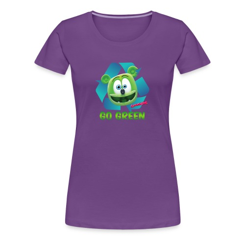 Gummibär (The Gummy Bear) Recycle Earth Day Women's T-Shirt - Women's Premium T-Shirt
