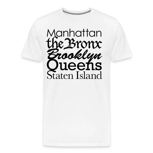 5 Boroughs T - Men's Premium T-Shirt