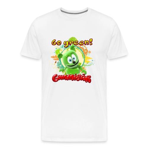 Gummibär (The Gummy Bear) Go Green Earth Day Men's T-Shirt - Men's Premium T-Shirt