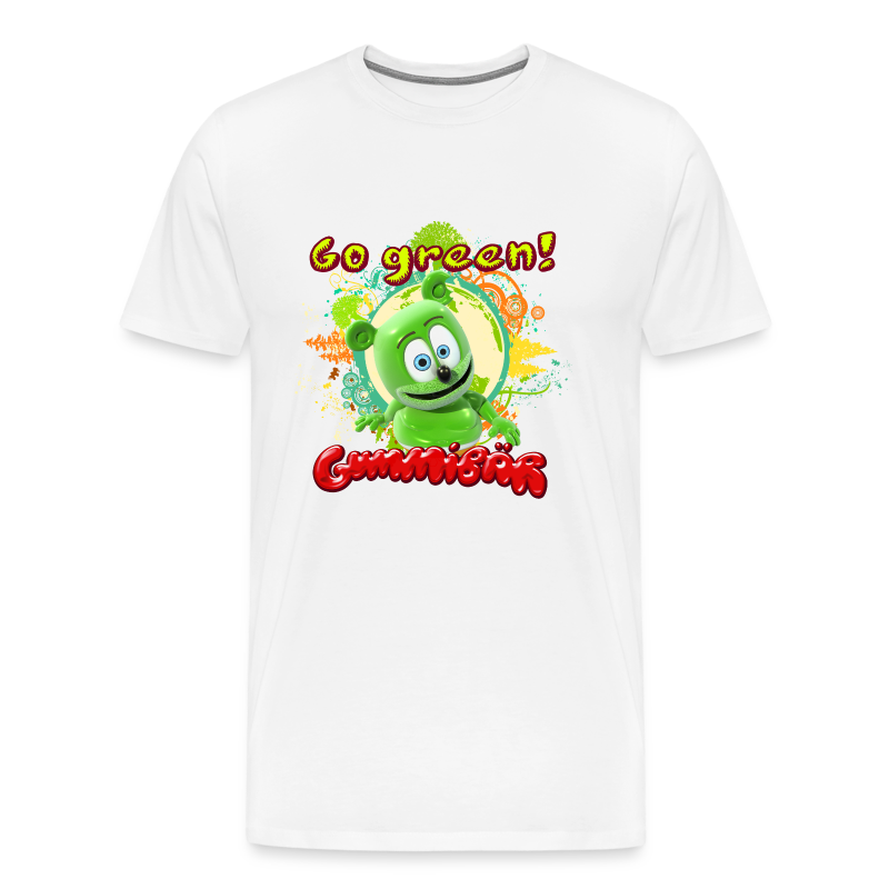 Gummibär (The Gummy Bear) Go Green Earth Day Men's T-Shirt - Men's Premium T-Shirt