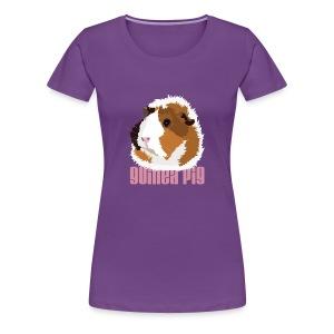 Retro Guinea Pig 'Elsie' Plus-Size T-Shirt (text) - Women's Premium T-Shirt