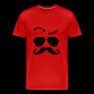 T-Shirts ~ Men's Premium T-Shirt ~ Respect the moustache