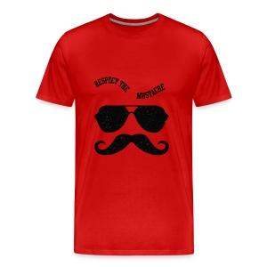 Respect the moustache - Men's Premium T-Shirt