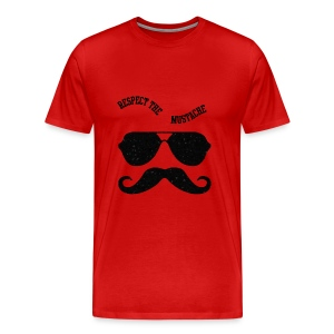Respect the moustache - Men's Premium T-Shirt