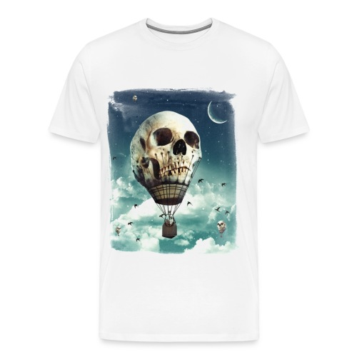 Skull Air Balloon -White - Men's Premium T-Shirt