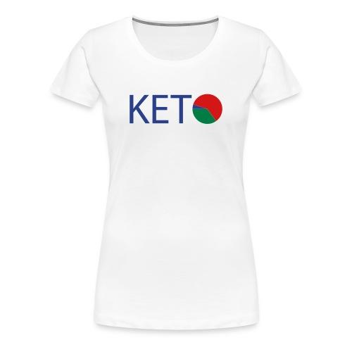 KETO Diet Macro Women's Plus Size Cotton T-Shirt - Women's Premium T-Shirt