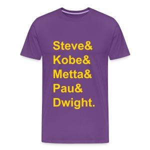 Starting Line-Up (names) - Men's Premium T-Shirt