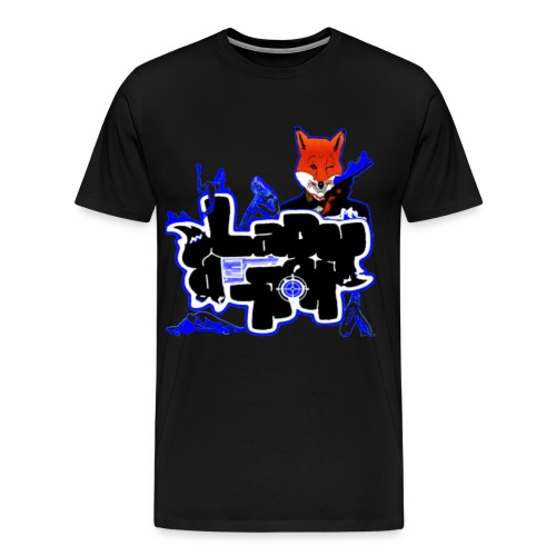 LadyK.LLeR Blk/Blue Film Negative HW Tee - Men's Premium T-Shirt