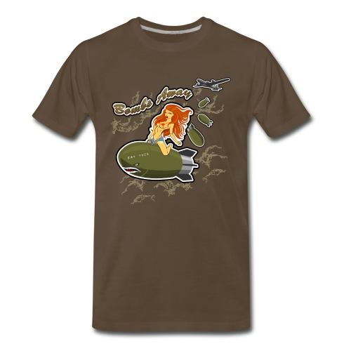 Bomb Riding Pinup Girl - Men's Premium T-Shirt