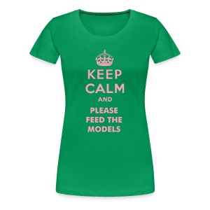Keep Calm (Grn/Pink) - Women's Premium T-Shirt
