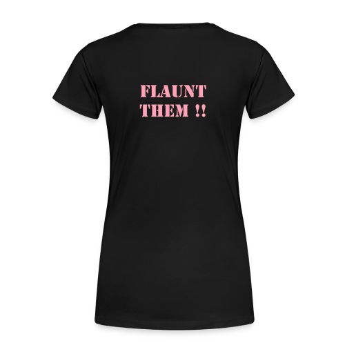 When Life Gives Your Curves... FLAUNT THEM Black T-SHIRT - Women's Premium T-Shirt