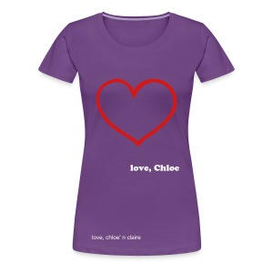 big heart chloe - Women's Premium T-Shirt
