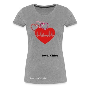 3 hearts beating claire - Women's Premium T-Shirt