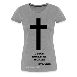 Jesus Cross, Chloe - Women's Premium T-Shirt