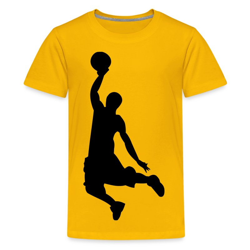 basketball dunk silhouette t shirt spreadshirt. Black Bedroom Furniture Sets. Home Design Ideas