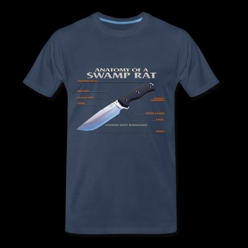 Anatomy of a Swamp Rat Mens Tee - Men's Premium T-Shirt
