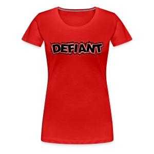 Women's Plus Size Defiant T-Shirt - Women's Premium T-Shirt