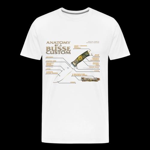 Anatomy of a Custom Mens Tee - Men's Premium T-Shirt
