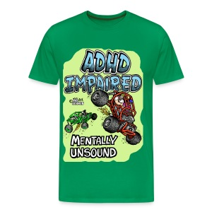 ADHD Impaired rock crawler mentally unsound T-Shirts - Men's Premium T-Shirt