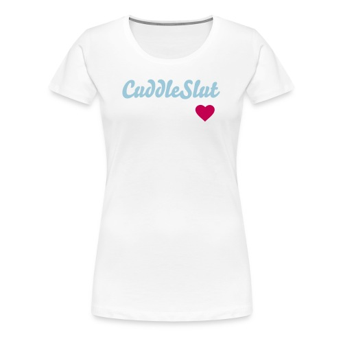 cuddle slut blue pink - Women's Premium T-Shirt