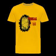 T-Shirts ~ Men's Premium T-Shirt ~ New Black Gold Tee Mens