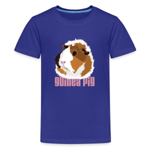 Retro Guinea Pig 'Elsie' Kid's T-Shirt (text) - Kids' Premium T-Shirt