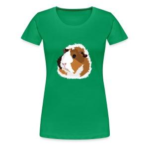 Retro Guinea Pig 'Elsie' Plus-Size T-Shirt (no text) - Women's Premium T-Shirt